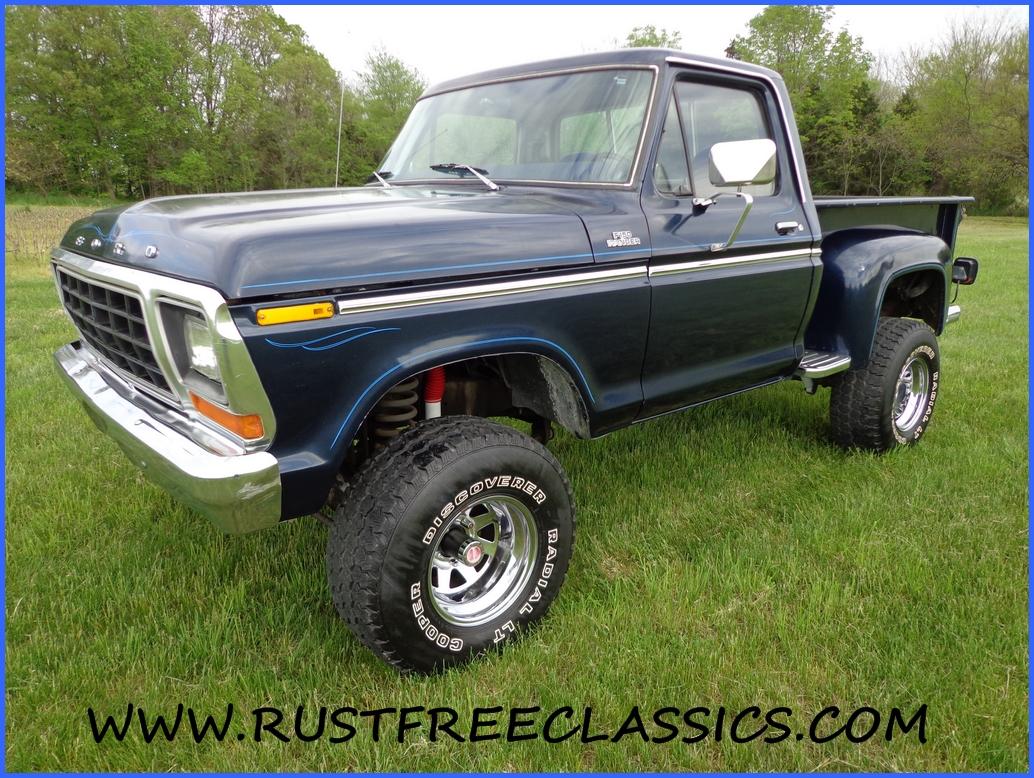 1978 78 f150 ford 4x4 short bed step side ranger blue 1978 ford f150